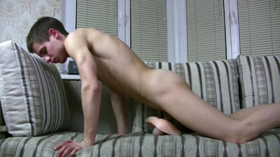 Dick-strong twink pulling a fake ass onto his stiffy